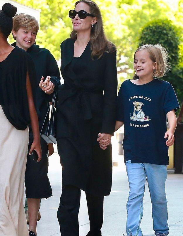 Avec Shiloh et Vivienne
