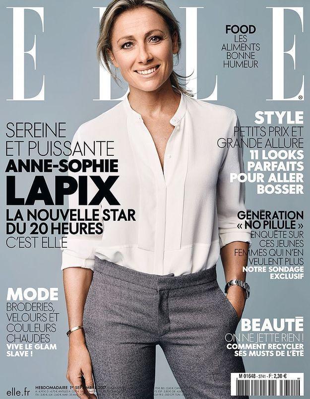 Anne-Sophie Lapix se dévoile en couverture de ELLE cette semaine
