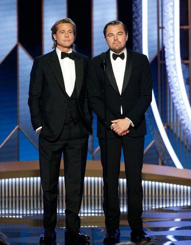 Brad Pitt se moque de Leonardo DiCaprio et de Titanic dans son discours aux Golden Globes