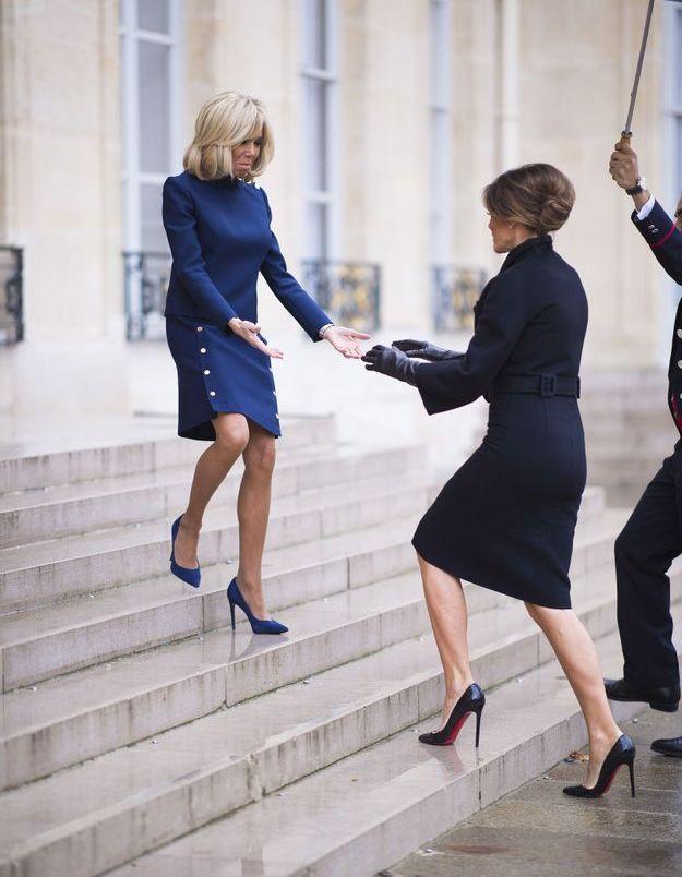 Brigitte Macron et Melania Trump complices