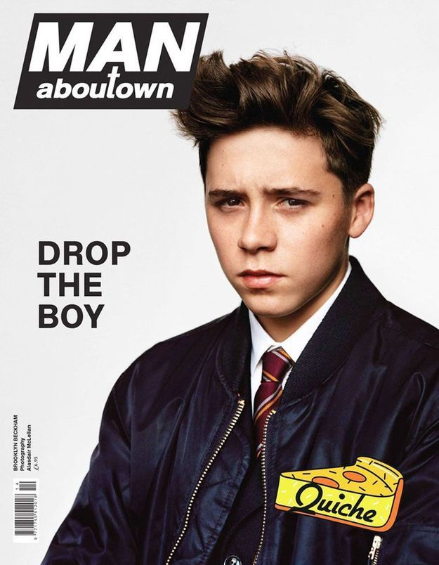 Brooklyn Beckham, en couverture d'un magazine de mode