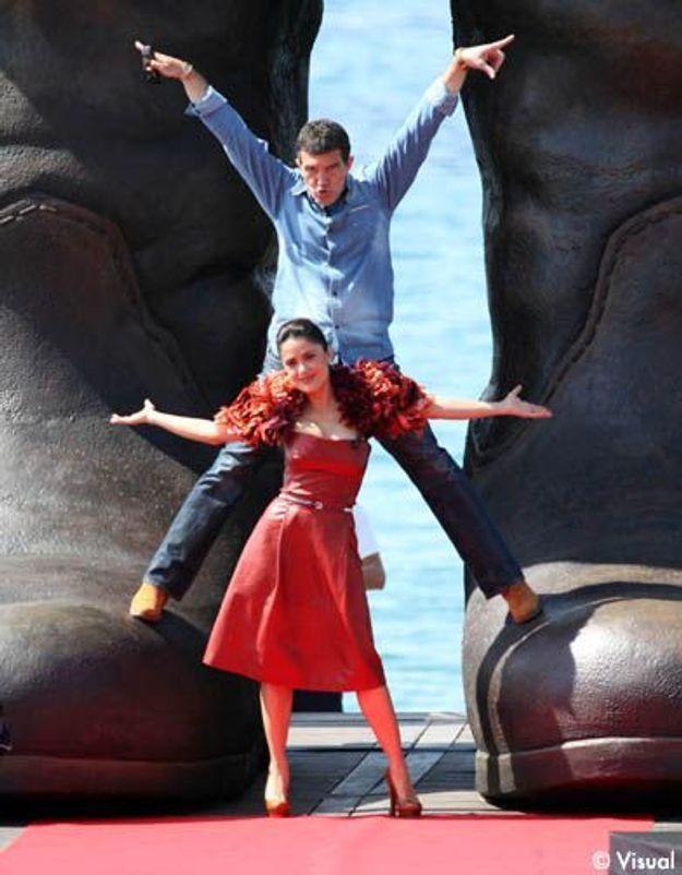 "Cannes : Antonio Banderas et Salma Hayek très ""caliente""!"