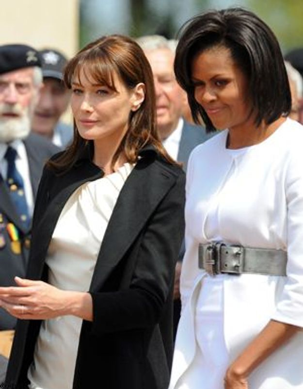 Carla Bruni et Michelle Obama, stars du 35ème sommet du G8