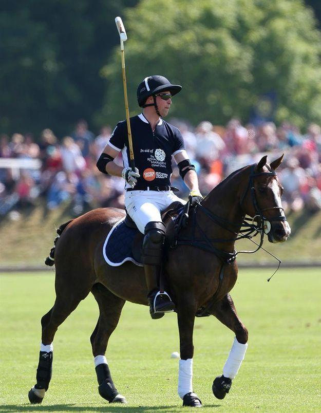 Au loin, le prince William sur son cheval !