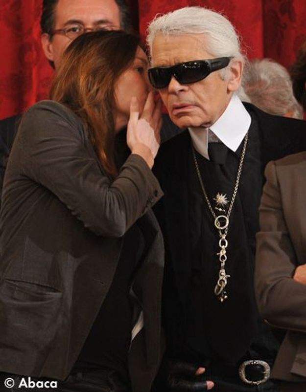 Carla Bruni Sarkozy et Karl Lagerfeld