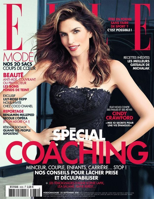Cindy Crawford, cover girl de ELLE cette semaine !