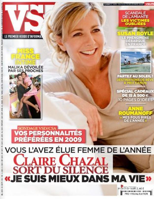 Claire Chazal, élue « femme de l'année » !
