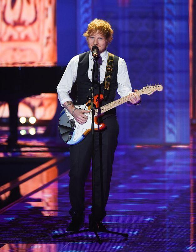 Ed Sheeran au défilé Victoria's Secret 2014