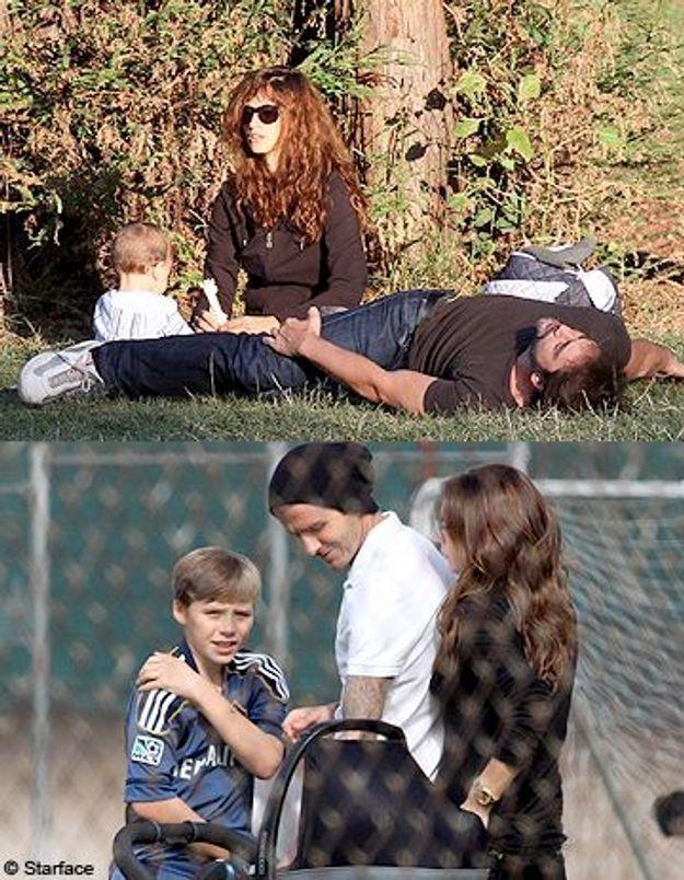 Dimanche en famille pour les Cruz-Bardem et les Beckham
