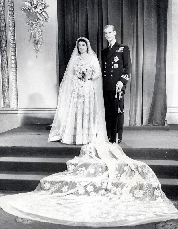 Son mariage en 1947