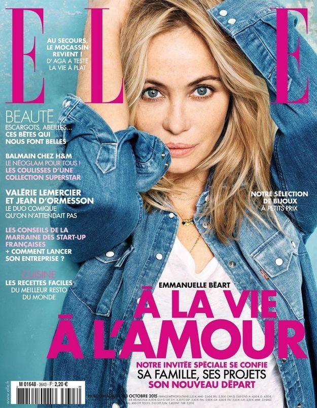 Emmanuelle Béart invitée spéciale de ELLE cette semaine!