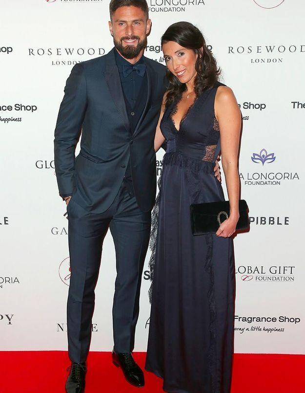 Olivier Giroud et son épouse, Jennifer