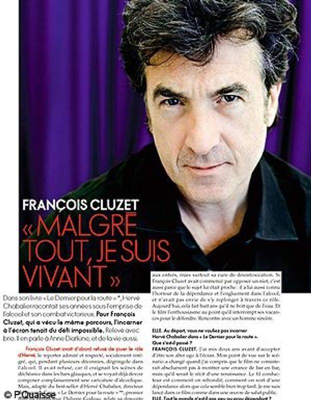 François Cluzet révèle son passé d'alcoolique dans ELLE