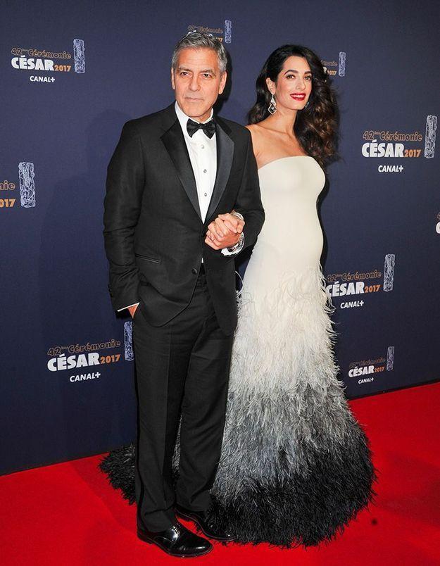 Aux César, Amal Clooney enceinte