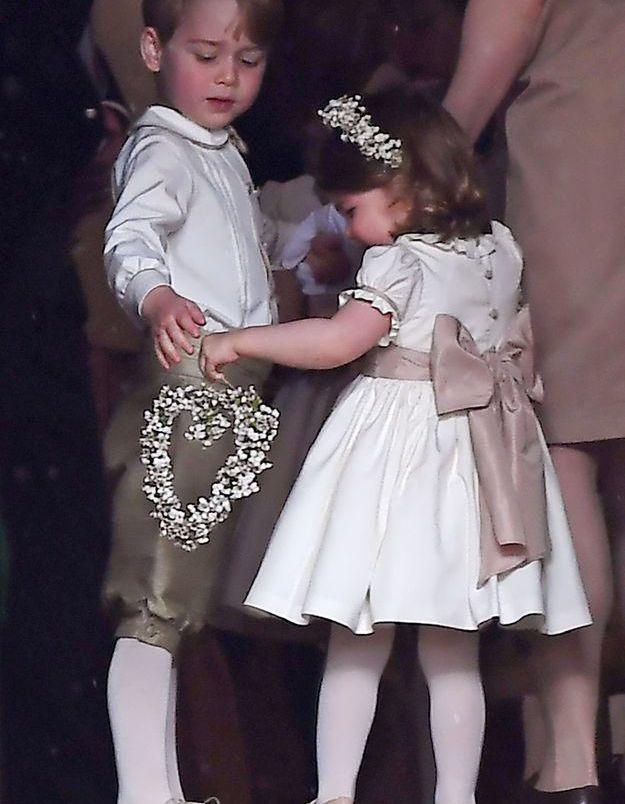 En 2017, George et Charlotte au mariage de Pippa Middleton