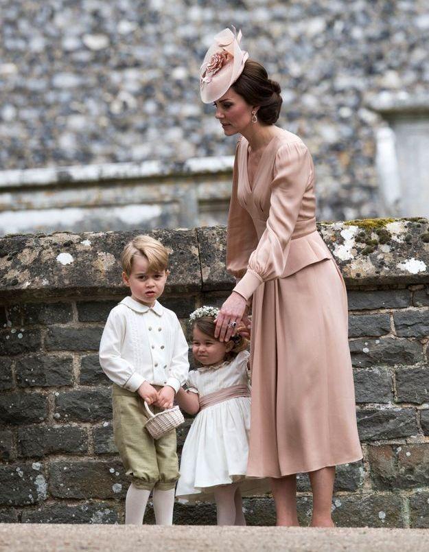 Kate Middleton et ses deux enfants au mariage de sa soeur Pippa en 2017