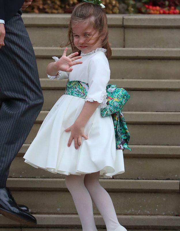 la princesse Charlotte face au vent !