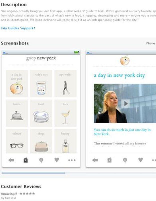 Gwyneth Paltrow lance son appli pour iPhone