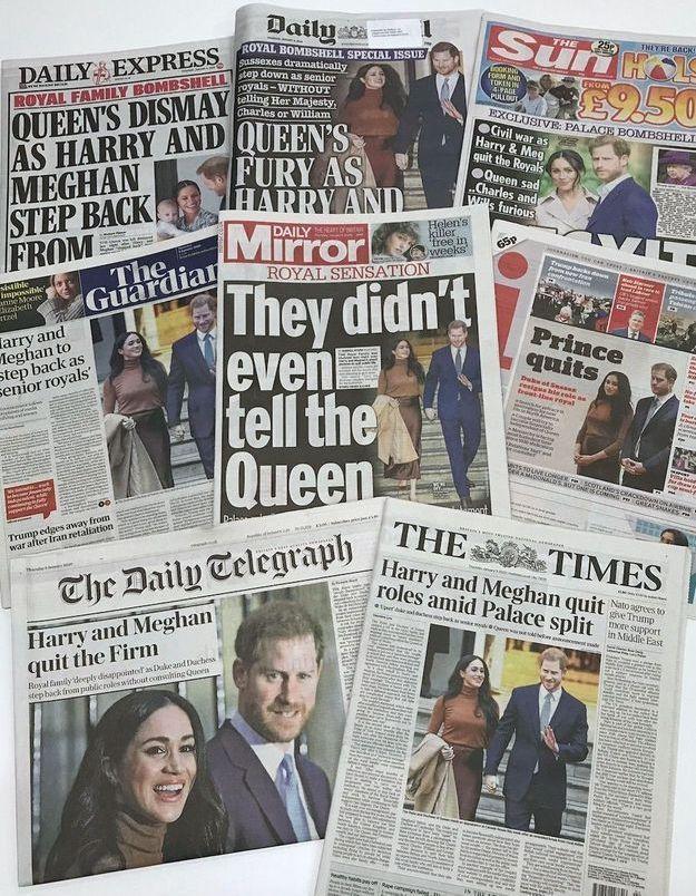 Harry et Meghan en guerre contre les fake news décident de bannir quatre tabloïds