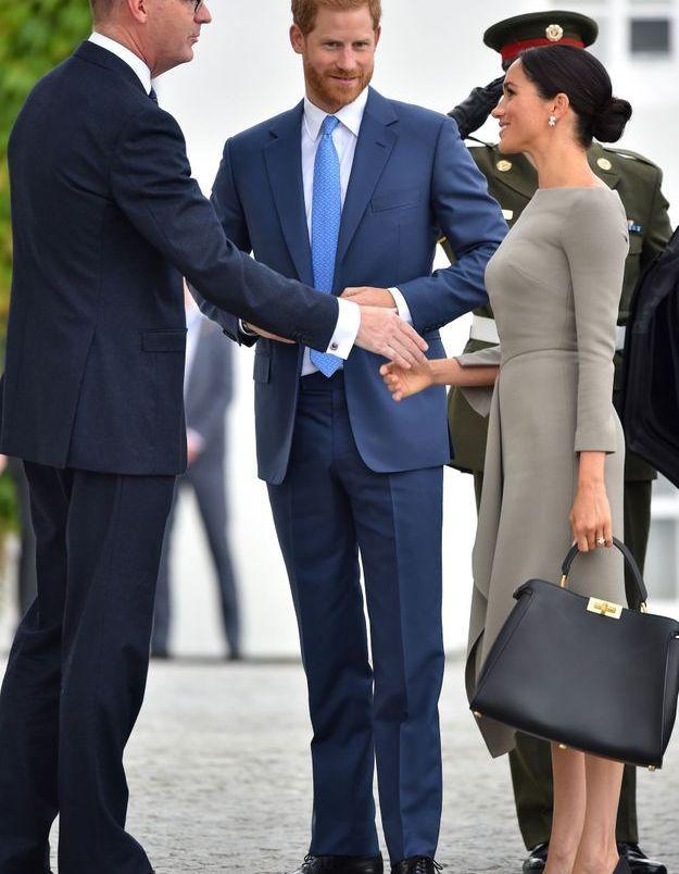 Le duc et la duchesse de Sussex arrivent pour rencontrer le président irlandais