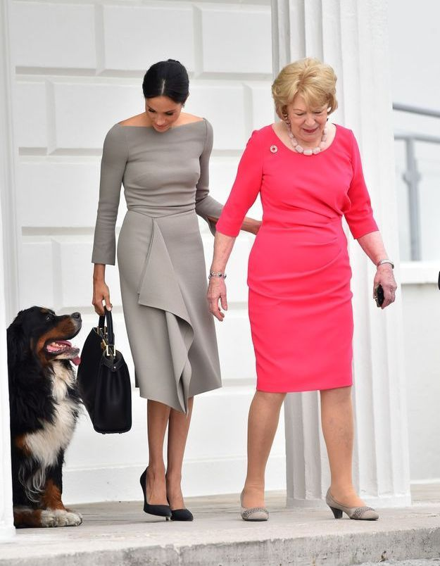 Meghan Markle avec l'épouse du président, Sabrina