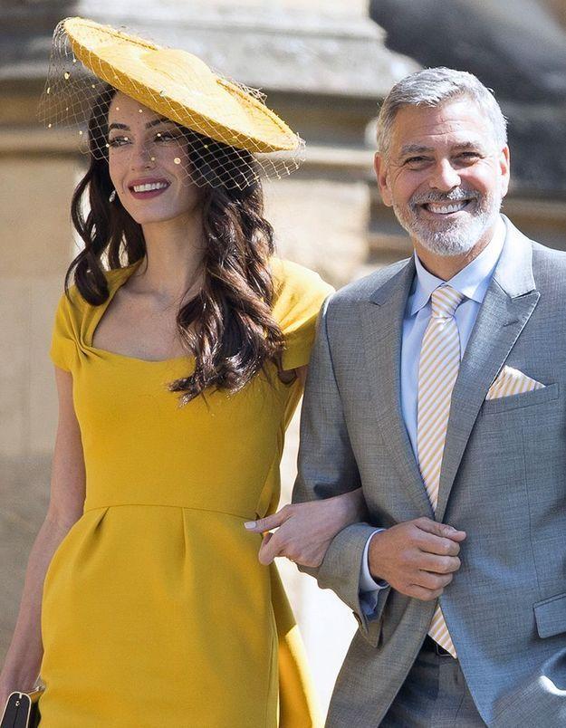 George et Amal Clooney au mariage de Meghan et Harry
