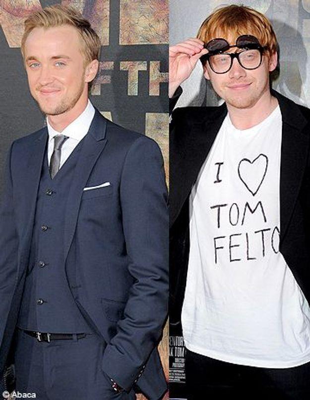 Harry Potter : Rupert Grint prouve son amour à Tom Felton !