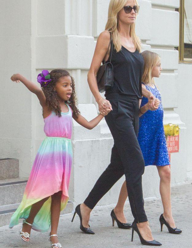 Beau design sélectionner pour le meilleur outlet à vendre Heidi Klum : ses filles portent des talons à 10 et 4 ans - Elle