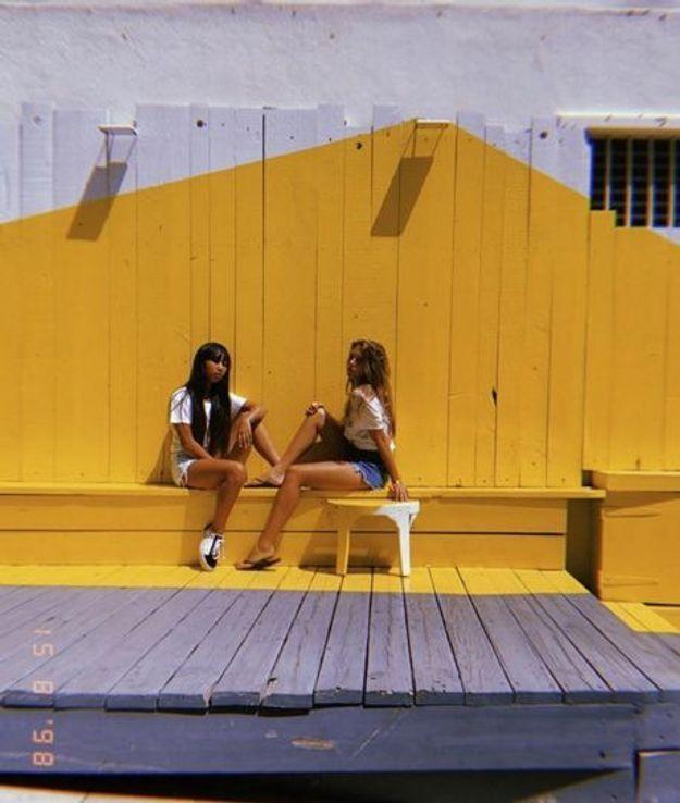 Jade Hallyday avec Tess Rambaldi à Saint-Barth