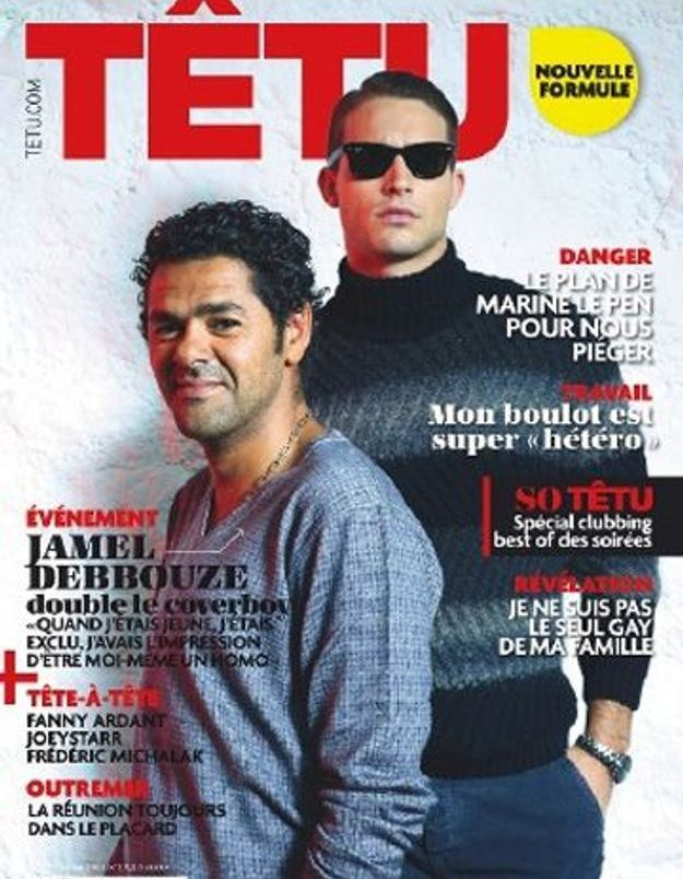 Jamel Debbouze cover boy du magazine gay Têtu
