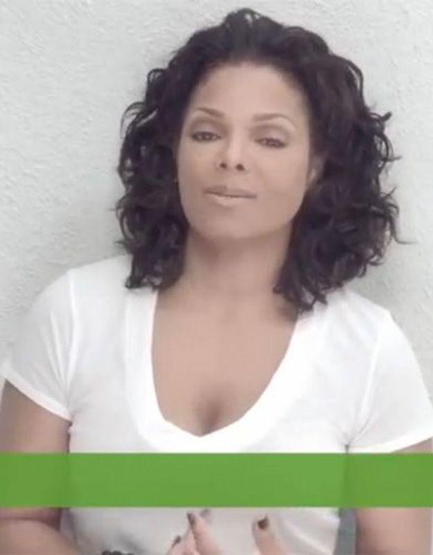 Janet Jackson: porte-parole du régime qu'elle a suivi