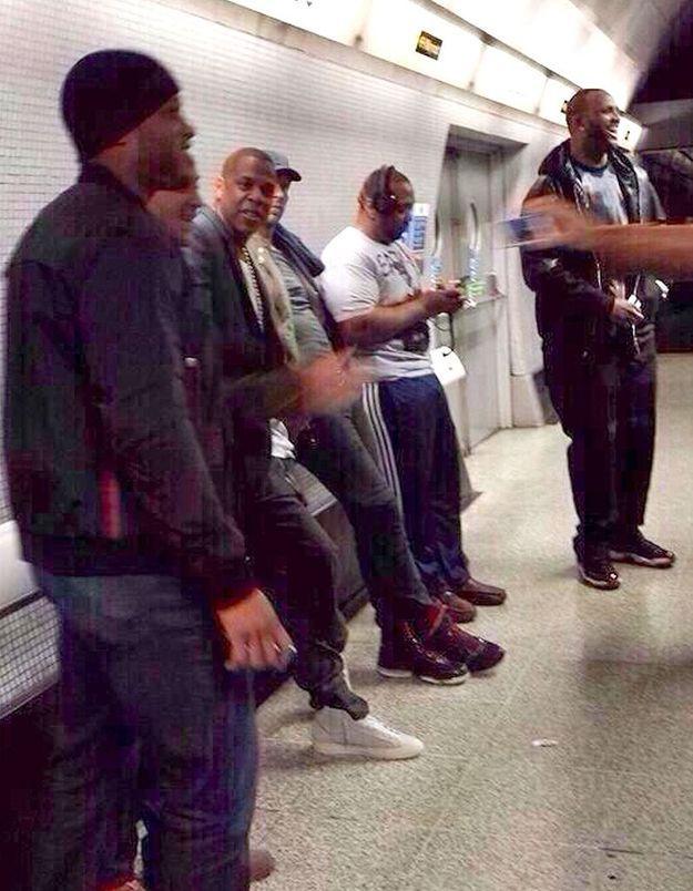 Jay Z, Chris Martin et Timbaland dans le métro de Londres