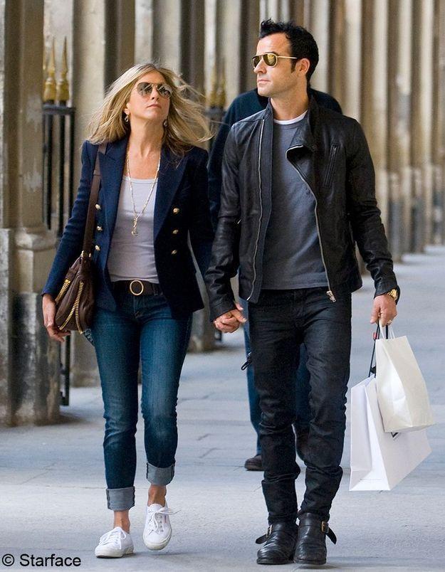 Jennifer Aniston à Paris avec Justin Theroux