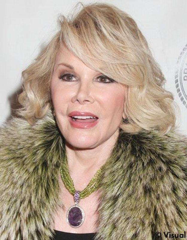 Joan Rivers : elle avoue 739 opérations de chirurgie esthétique !