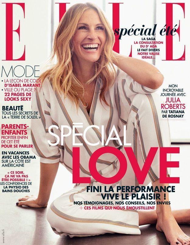 Julia Roberts en couverture de ELLE cette semaine!