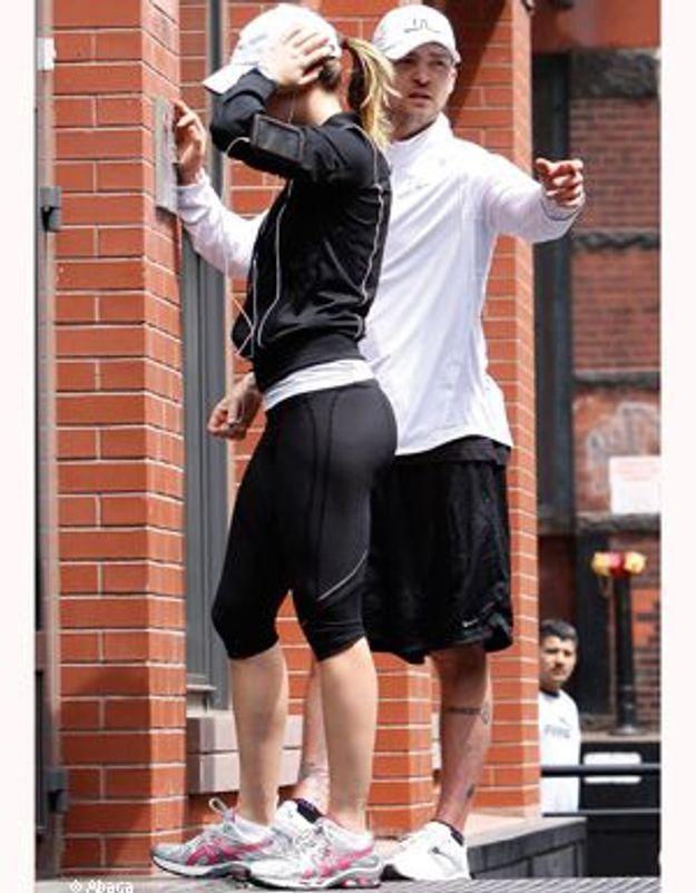 Justin Timberlake et Jessica Biel, jogging en amoureux