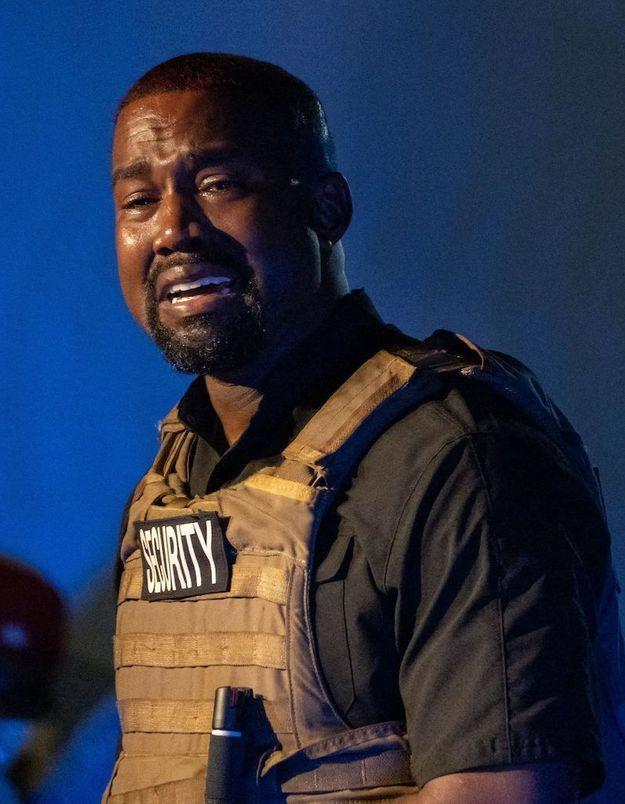Kanye West en larmes pour son premier meeting de campagne