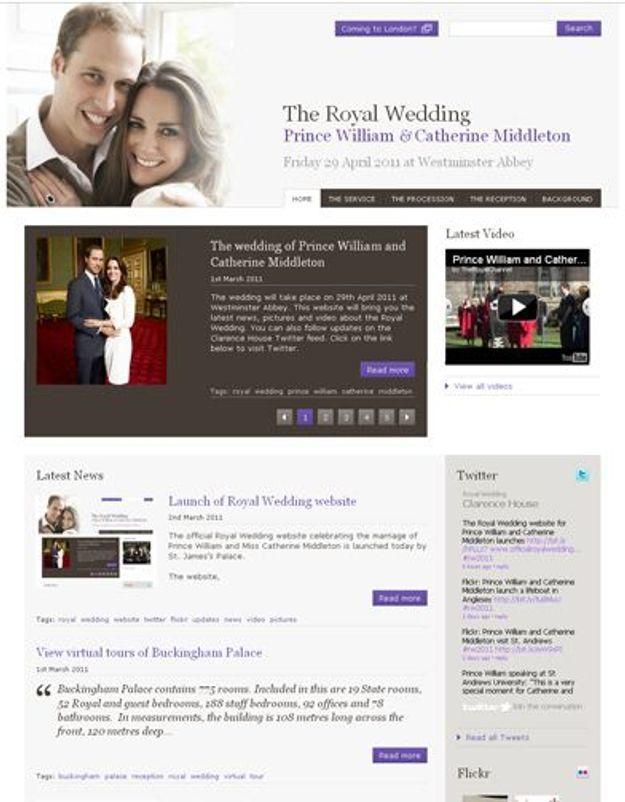 Kate Middleton et le prince William ont enfin leur site web