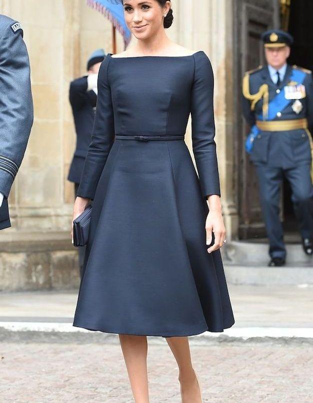 Meghan Markle, rayonnante dans sa robe Dior