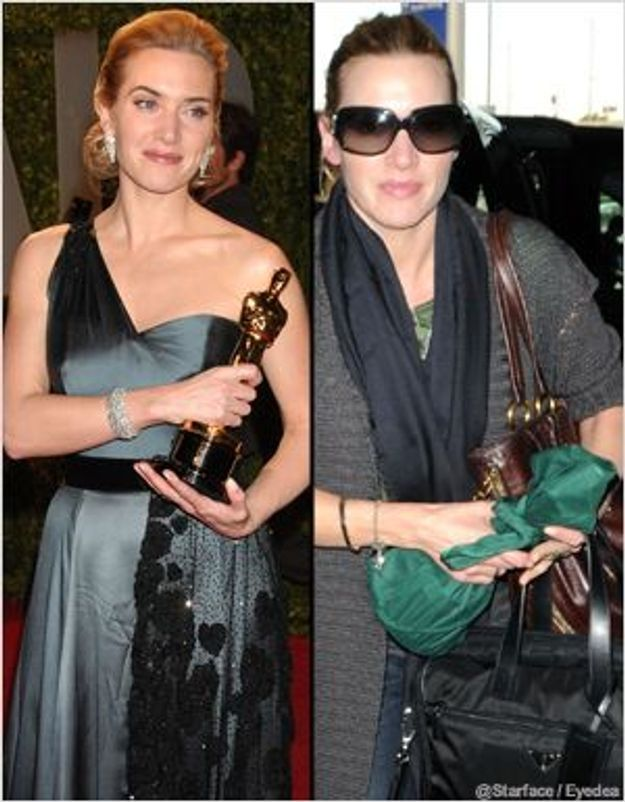Kate Winslett ne lâche plus son Oscar !