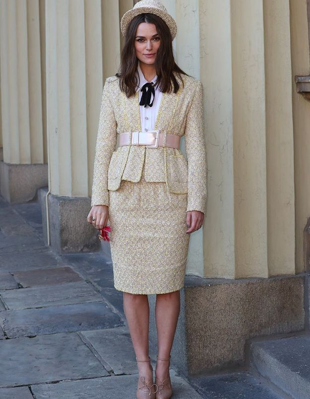 keira Knightley en total look Chanel