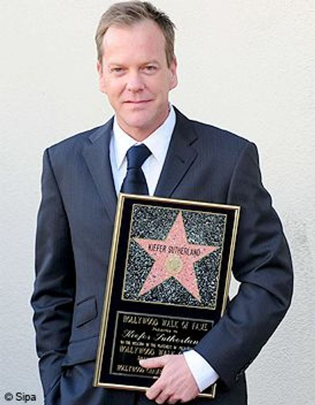 Kiefer Sutherland reçoit son étoile sur Hollywood Boulevard