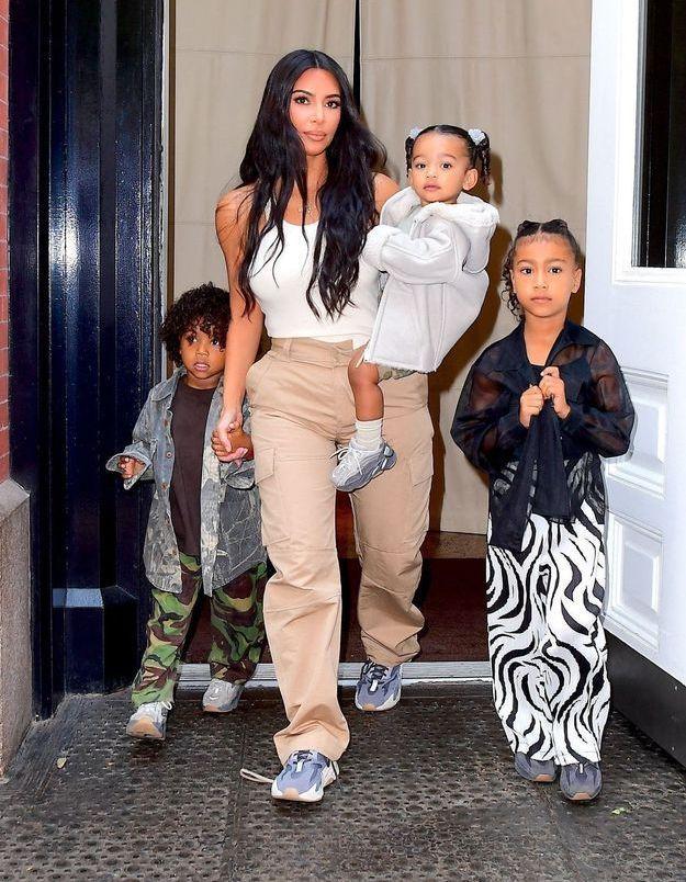 Kim Kardashian essaie de passer de bons moments avec ses enfants malgré un divorce difficile
