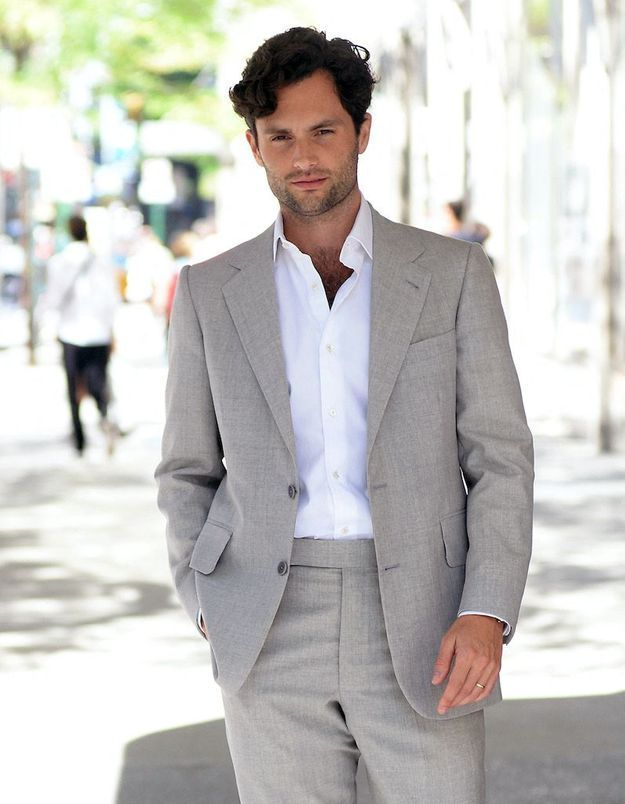 L'adorable cliché de Penn Badgley en papa poule