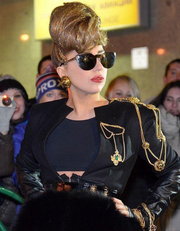 Lady Gaga : son fauteuil roulant est en or