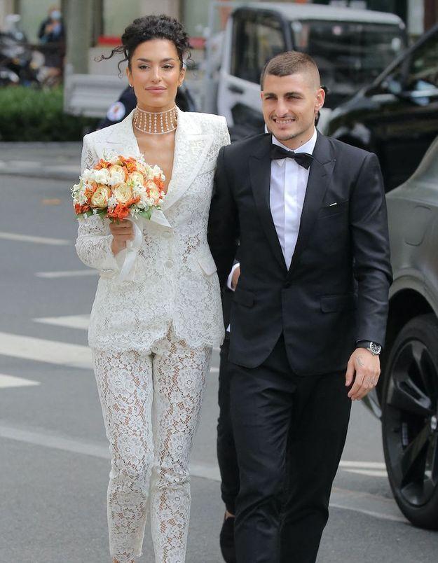 Le joueur de football Marco Verratti et le mannequin Jessica Aïdi se sont mariés