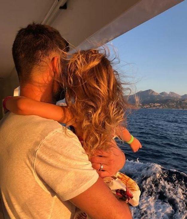 Hugo Lloris avec sa fille