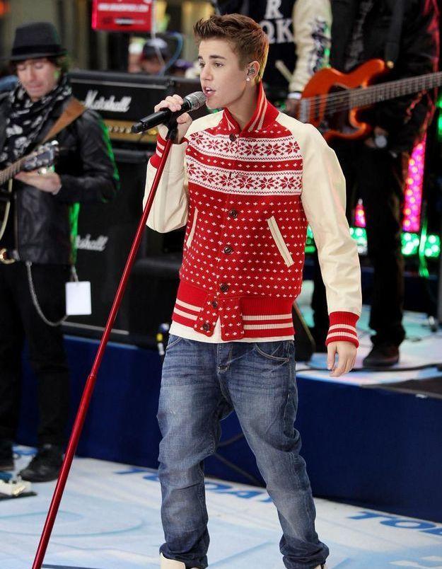 Le pull de Noël de Justin Bieber