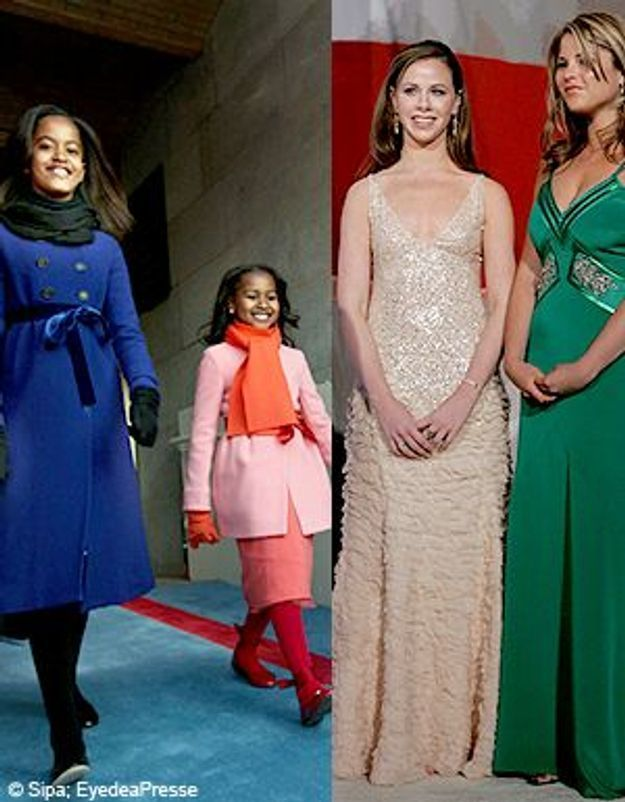 Les tuyaux des jumelles Bush aux filles d'Obama