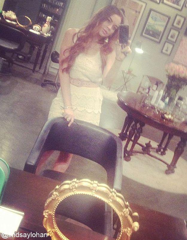 Lindsay Lohan est de nouveau rousse